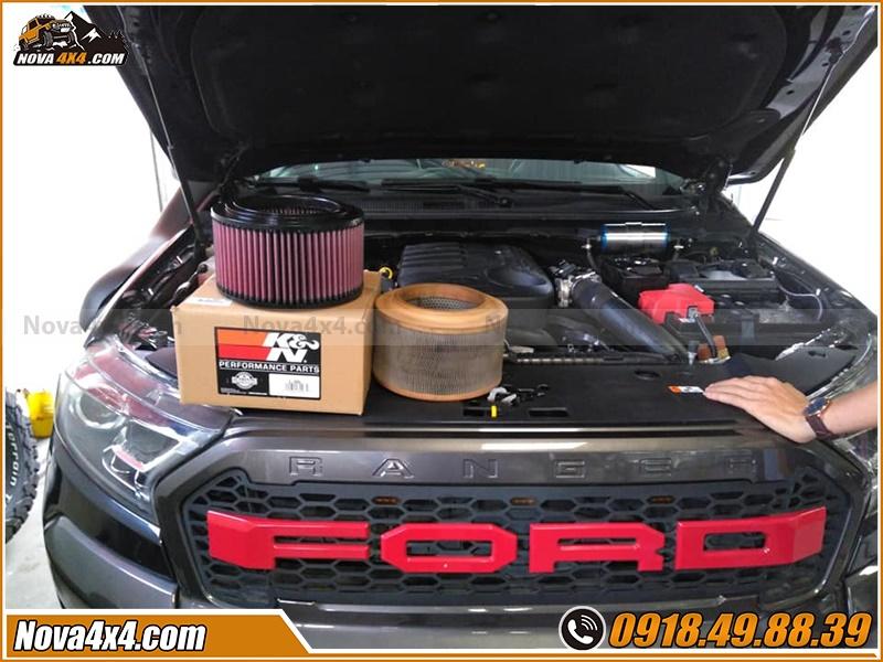 Phân phối lọc gió K&N dành cho xe bán tải Ford Ranger BT50 Triton Navara Colorado Hilux Dmax ở Sài Gòn